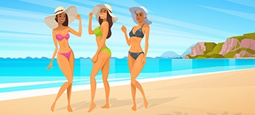 The Best Summer & Bikini-Themed Slots with Free Spins In 2019