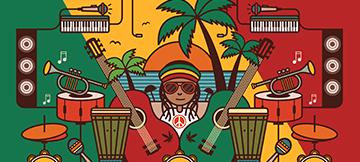 Reggae Themed Free Spin Slots